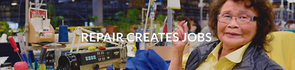 Repair creates jobs