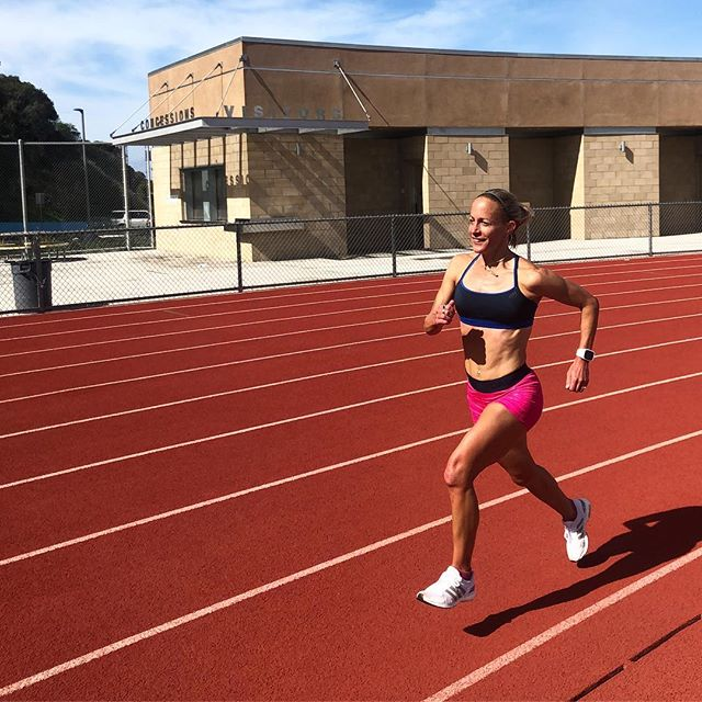 Enjoyed doing some speed work this morning with @nikkihiltz &  @therese_haiss !  They let me tag along for parts of their session...and yup, they're already out of the shot above 😉. It can be challenging to judge how hard to push yourself when you're working out with athletes that are faster or fitter.  Three things I've learned over the years are: ✔️Keep in mind what you're trying to accomplish on the day, ✔️Don't react emotionally to being behind or getting passed, ✔️Make sure to allow plenty of recovery time after those days that you go to the well. Your mindset before, during and after the workout is key to reaping all the benefits of the training!. . . . #mindset #speedwork #tracksession  #trainingtips  #runcoach  #adidasrunning