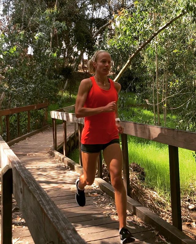 """Yesterday right before I started my tempo run a woman asked me- were you doing speed work today?  She had seen me doing 40 sec warm up strides so I answered yes- and joked that I wasn't running a whole Lake Miramar loop at the pace.  As she walked away I thought, holy sh*t, I HAVE done the whole loop at my current warm up pace (for the 40 sec strides) in the past.  And for a moment I felt really old, and was questioning why I drove up to Lake Miramar to do a tempo run by myself on a busy Sunday morning.  But the excitement for the workout I was about to do quickly came back, and it ended up exceeding my expectations.  Our """"best ever"""" only happens once, but tracking progress and chasing goals is something we can do forever! . . . #staypresent #mindset #mindfulmonday"""