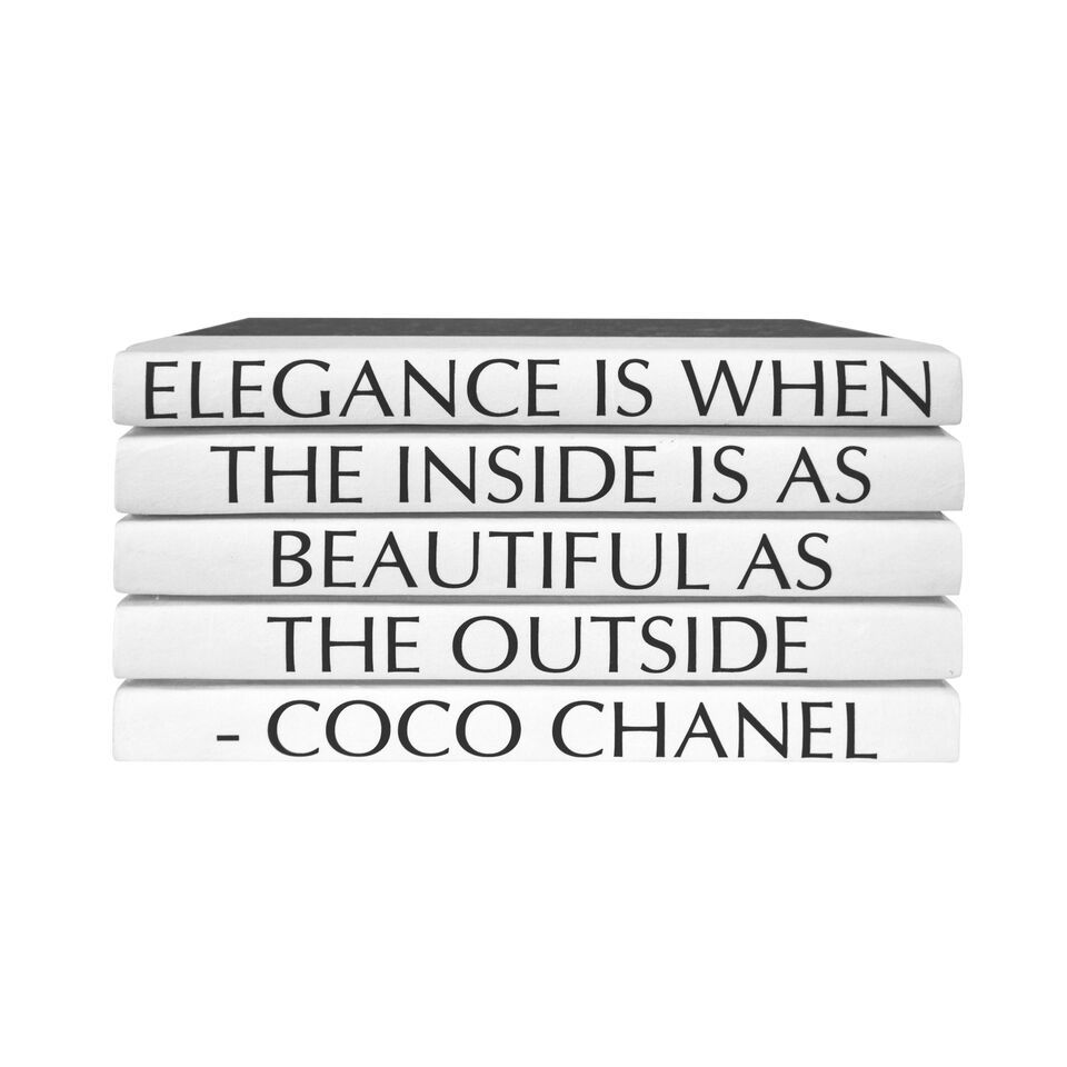 Elegance Is When... Coco Chanel 5 Volumes Stack