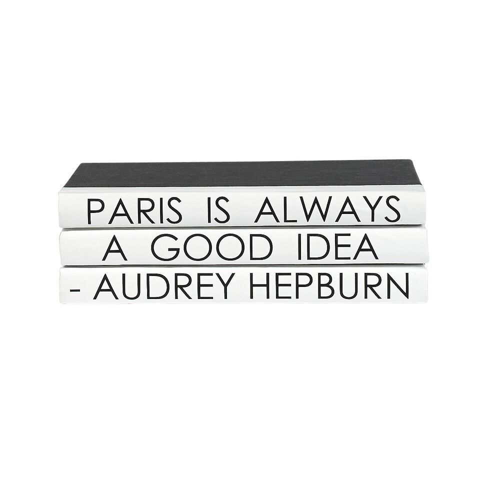"Quotation Series: ""Paris is Always..."" 3 Volume Stack"