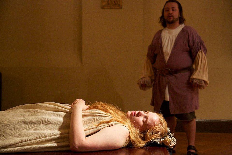 Susan Bywaters as Euridice in  Orfeo ed Euridice  by Gli Spiritosi Musical Consortium in 2013.