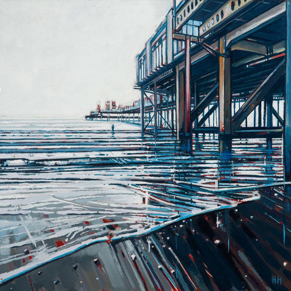 SOLD  - 'Sandown pier at sundown'