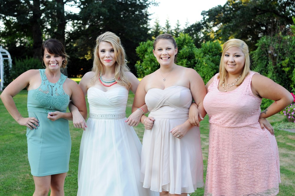 Bianca, far right, at my wedding.