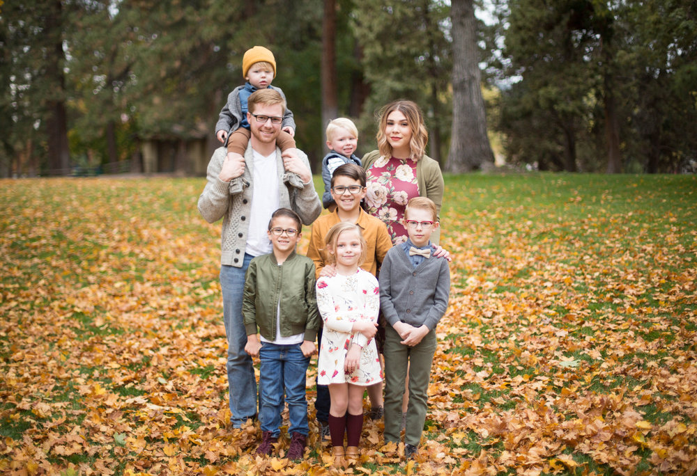 I'm giving my family as an example because 1, I love outfit planning, and 2, I have so many children, you can see several examples in one family!