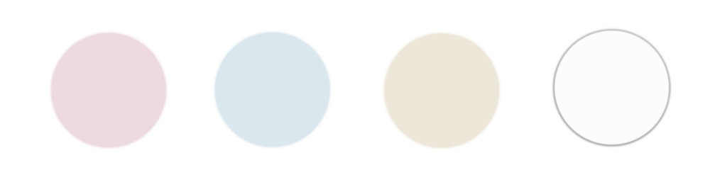 I really like blush, light blue, cream or tan, and white. You can do so many things with these colors while still being light and airy for the pictures.