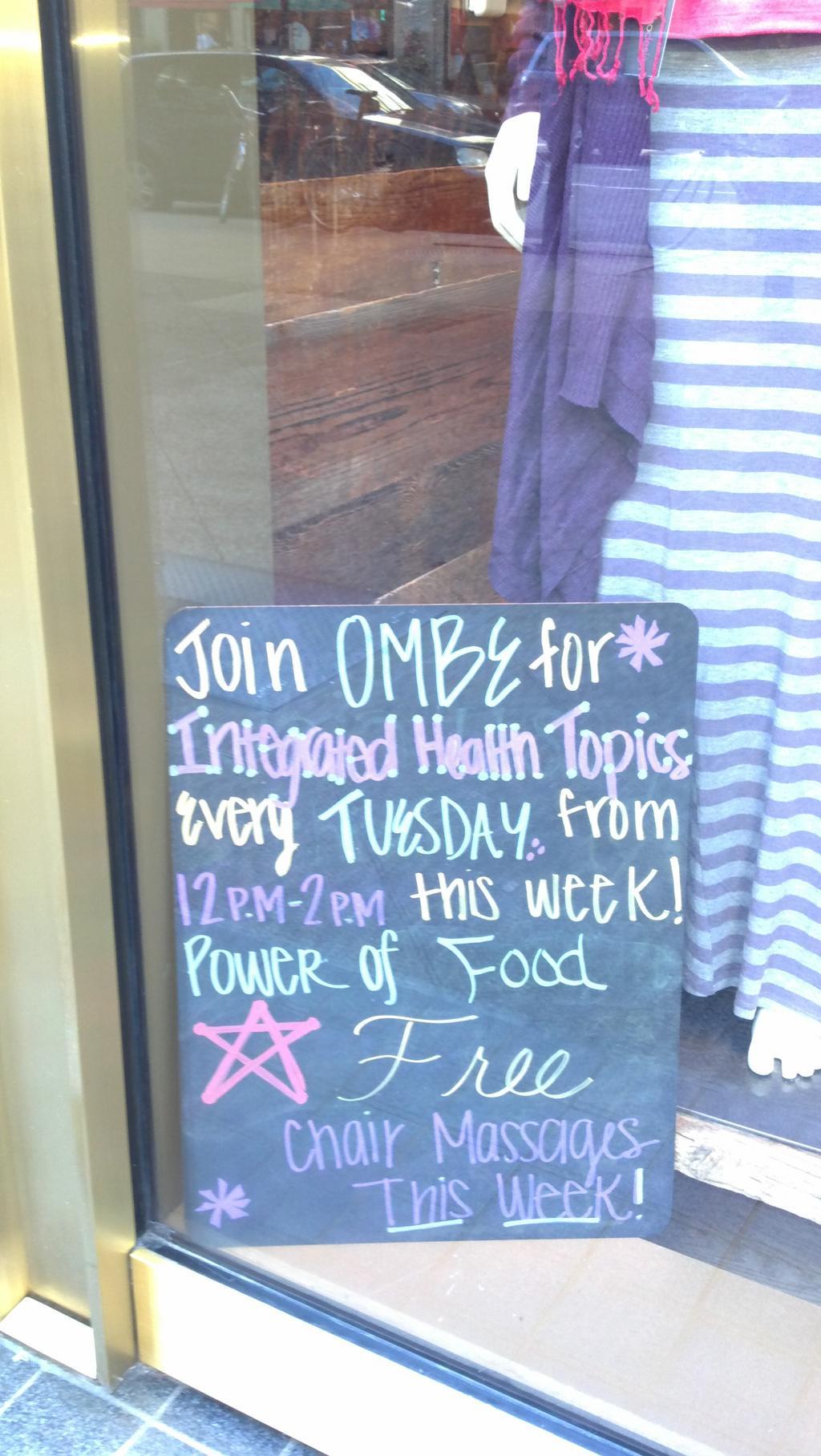 Power of Food + Massage @ Athleta — OMBE Integrative Health Center