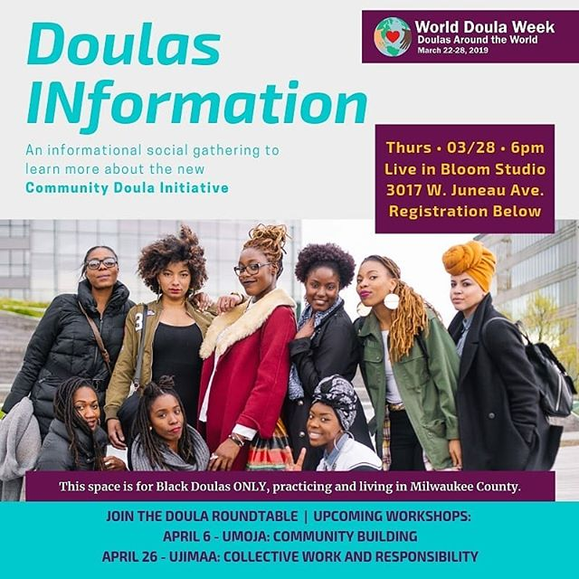 We are so excited to invite Black doulas in Milwaukee County to an INformational gathering to learn about our latest project in conjunction with the African American Breastfeeding Network  The Community Doula Initiative  Join us to learn more about how we are supporting doulas and supporting our community on our quest to better maternal child health outcomes.  March 28th, 2019 6pm to 8pm 3017 W. Juneau Ave  Questions? Contact us!  Registration will be up soon! [This project is made possible through a Catalyst Grant awarded by the Wisconsin Partnership Program out of UW-Madison.]