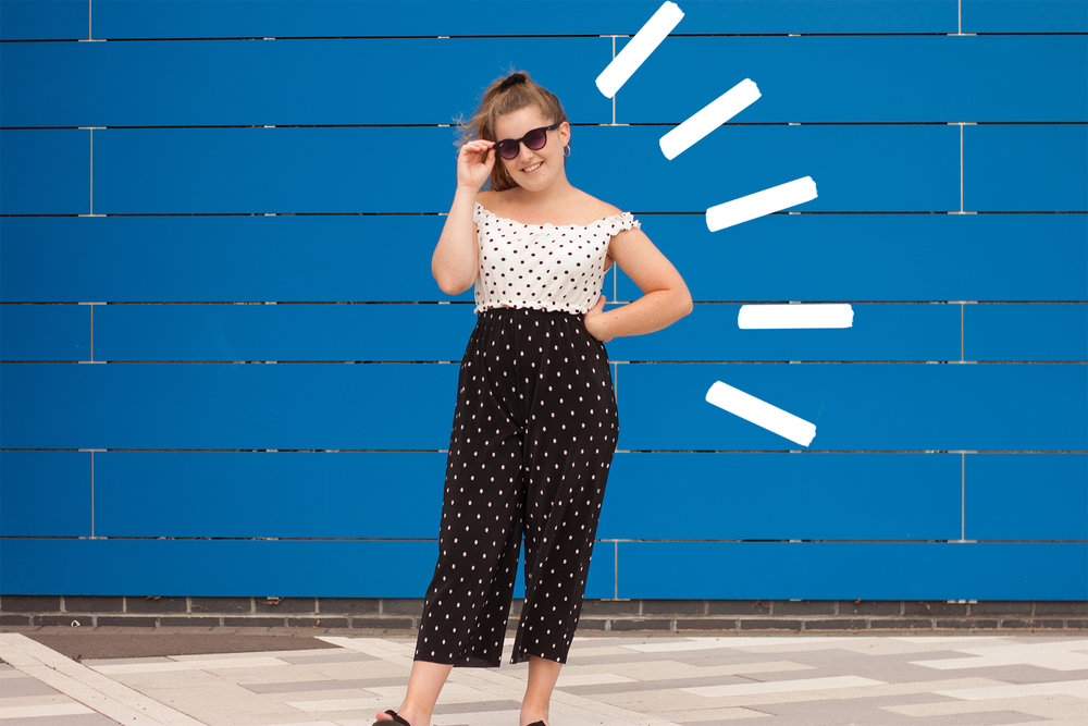Polka dot top @topshop, trousers @Primark
