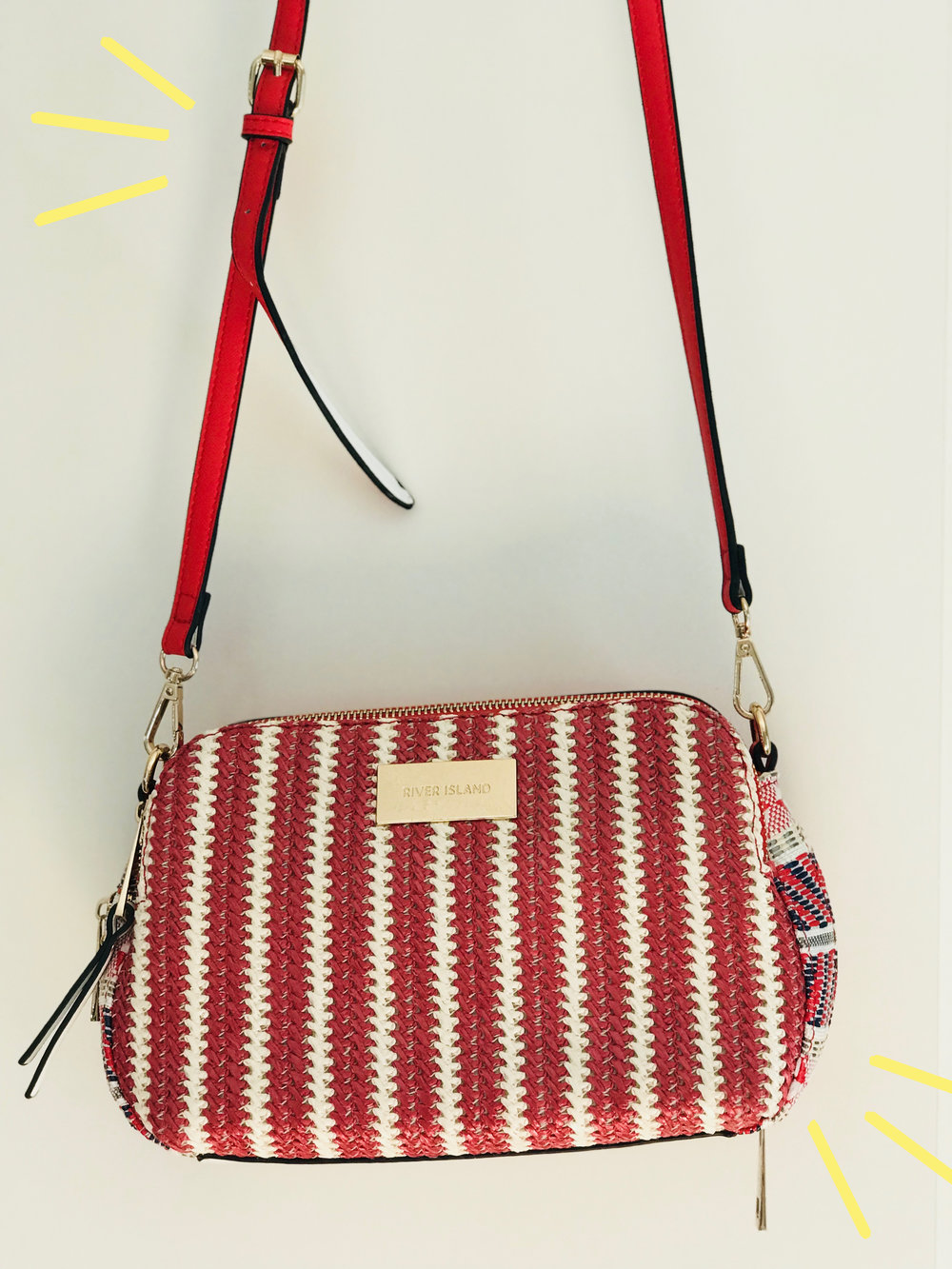 River Island red and white stripe bag | My Current Fave High Street Bags!