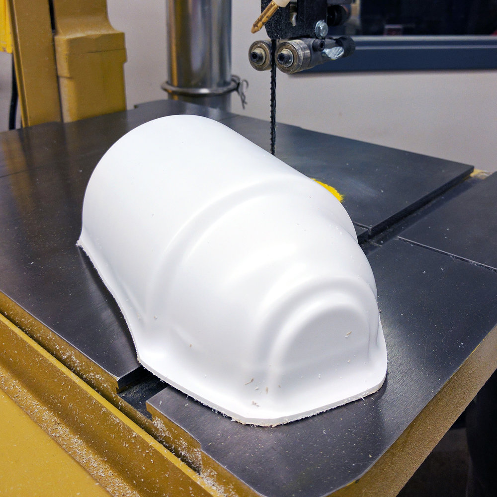 Thermoformed polystyrene shell