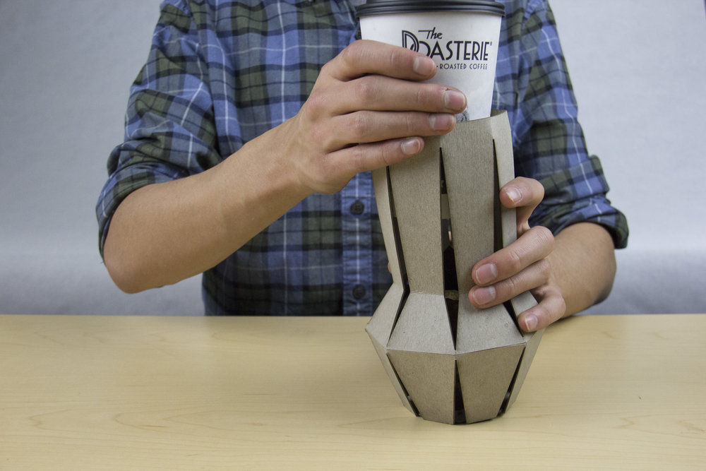 Step 3: insert coffee cup
