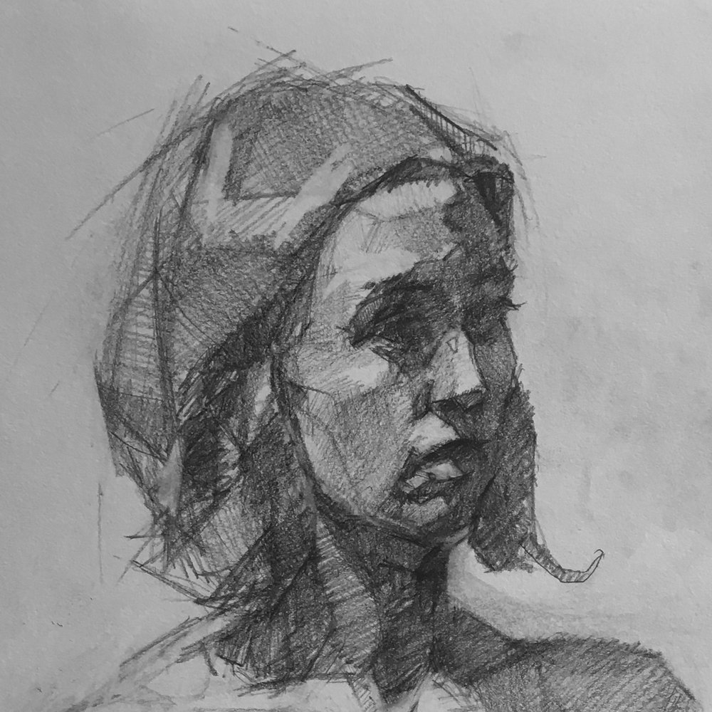 Portrait Drawing - Sunday, January 20, 2019, 1-4 pmThis session focuses on drawing a portrait from life using charcoal. The instructor will discuss the rules of proportion as they relate to portraiture as well as how to draw facial features and the question of likeness.Materials and model fee included.$85/Session