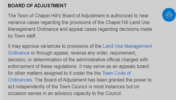 Board of Adjustment -