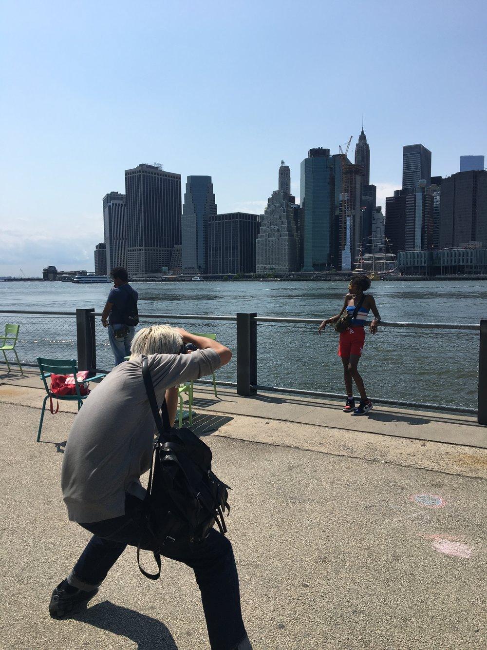 Dumbo, Manhattan skyline. Must see.  ダンボから望むファイナンシャル・ディストリクト。