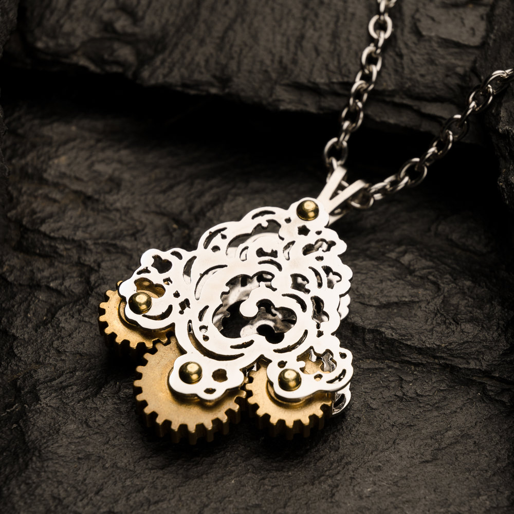 diamond gear heart men pendant women chain silver vintage statement steampunk watch s product wholesale lureen long necklace antique