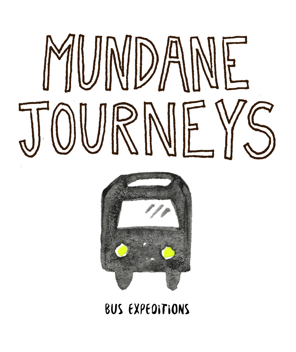 Mundane Journeys Bus Expeditions were created for various arts organizations including Yerba Buena Center for the Arts, SFMOMA, Orange County Museum of Art and The San Francisco Arts Commission. The bus expeditions covered areas of the city containing the highest volume of Mundaane activity. Destinations were undisclosed until the passengers were onboard. Once settled in, passengers were should instructional videos, which highlighted specific details about the section of the city they were headed to. Once reaching a destination, passengers disembarked and trusty handouts guided them through the city streets. Journeyers were instructed not to overcrowd the unsuspecting establishments they were visiting.A bus-themed soundtrack was played enroute.  Listen to the bus soundtrack here.