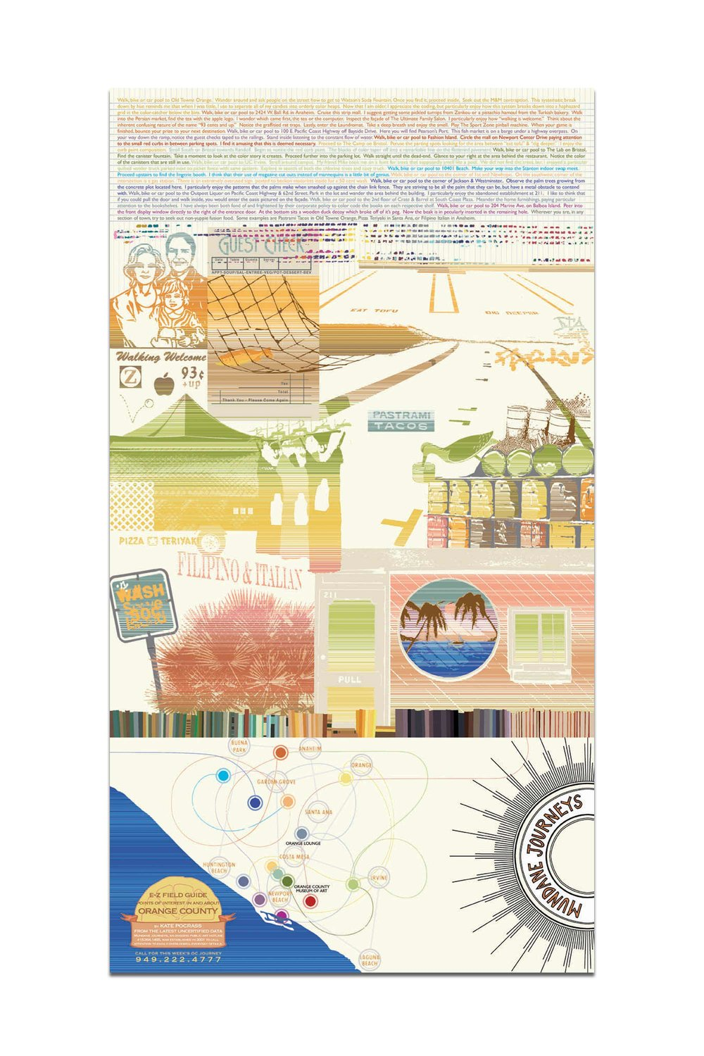 """13"""" x 24"""" poster of Orange County designed for the Orange County Museum of Art 2006 California Biennial. Buy it here."""