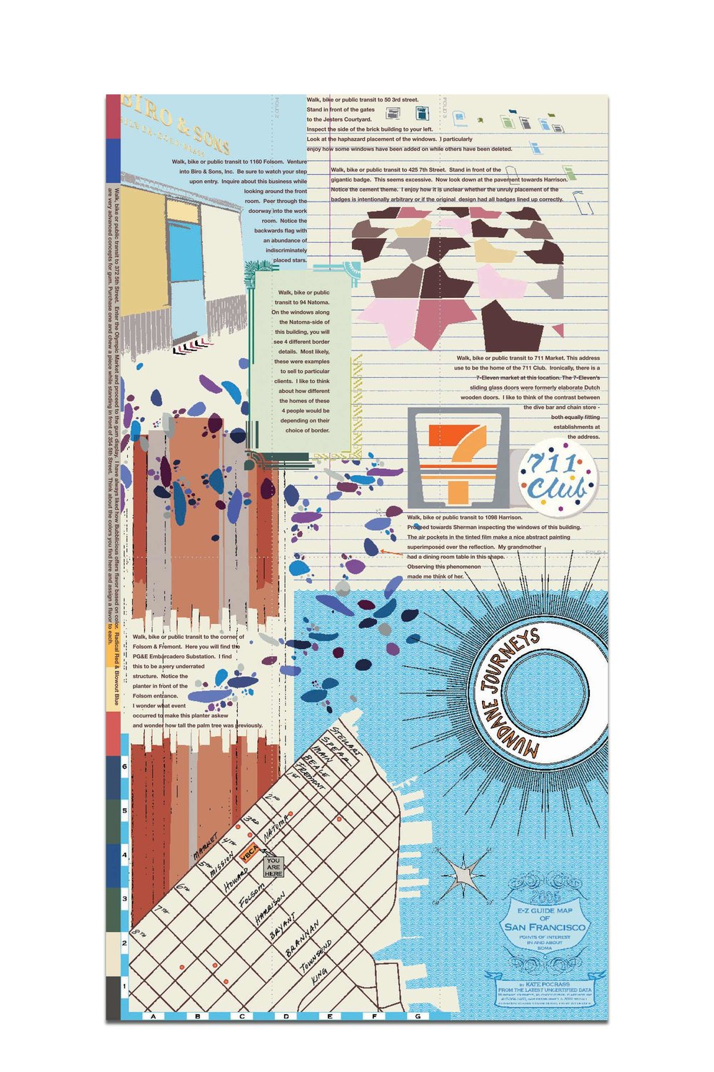"""13"""" x 24"""" poster of downtown San Francisco designed for Yerba Buena Center for the Arts Bay Area Now 4 . Buy it here."""