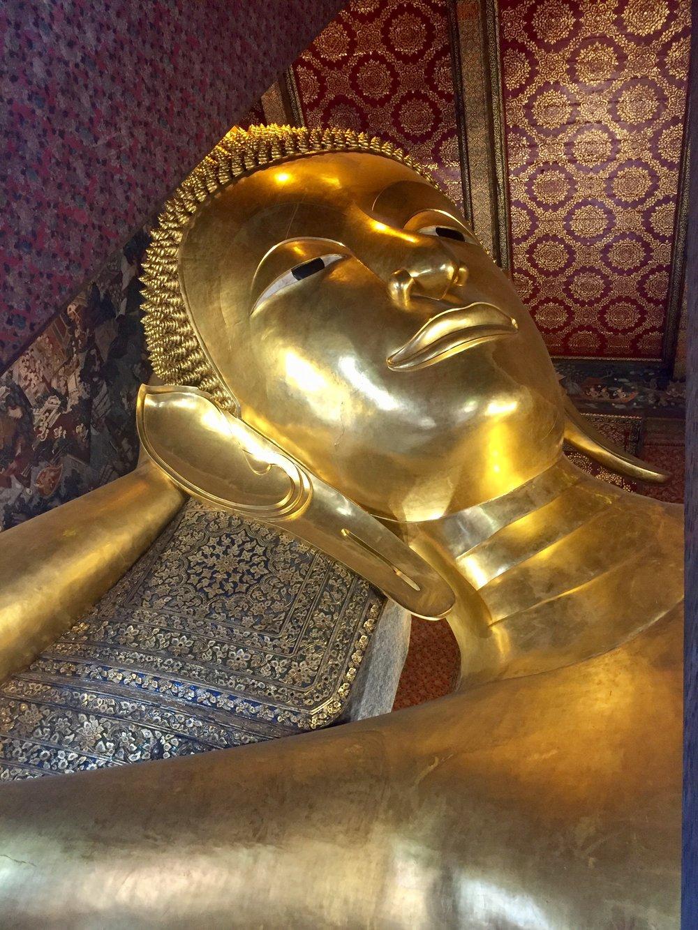 The Reclining Buddha in Wat Pho.