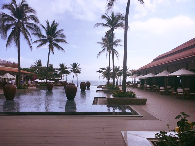 View from the entrance of the Furama Resort.