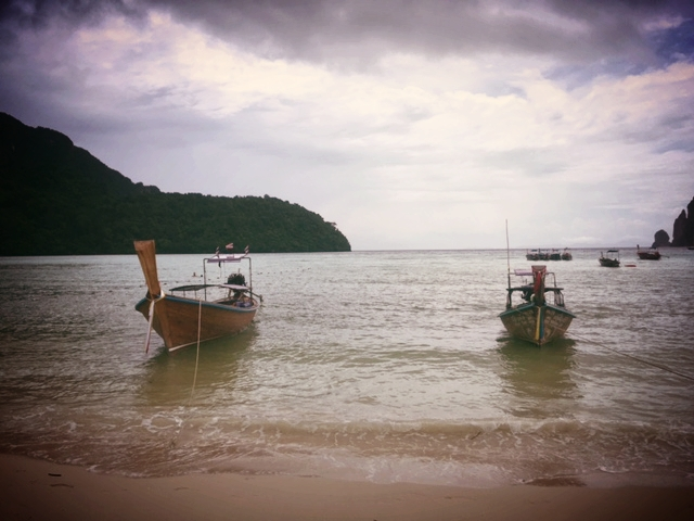 Shore of Ko Phi Phi Don.