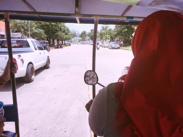 Tuk tuk ride from the pier in Ko Lanta to the resort.