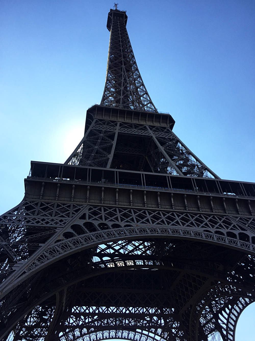 Our own little eclipse at the Eiffel Tower.