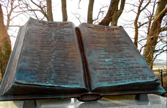 The High Water Mark memorial at Gettysburg