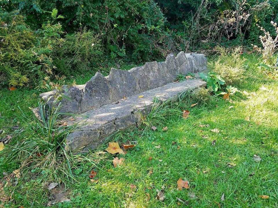 Devou Park - Prisoner's Lake - WPA Bench.jpg