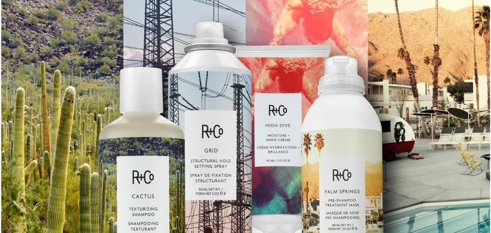 R&Co   R+Co is about an experience. The packaging and fragrances were designed to enhance that experience and evoke a feeling, place, style or attitude. You'll know just by looking at a bottle or tube what a product is meant to do, and the subtle yet sophisticated fragrances—meant for both men and women—are as individual as the members of our collective. We work to reduce the amount of physical material used in our packaging by eliminating unnecessary components. A large majority of the retail packaging can be recycled.