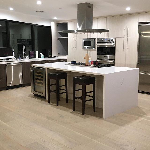 CHESTER Install's Modern Kitchen Refresh for Hollywood Hills couple. #european #modernkitchen #modernkitchendesigns #kitchendesign #stonecountertops #hollywood #laurelcanyon