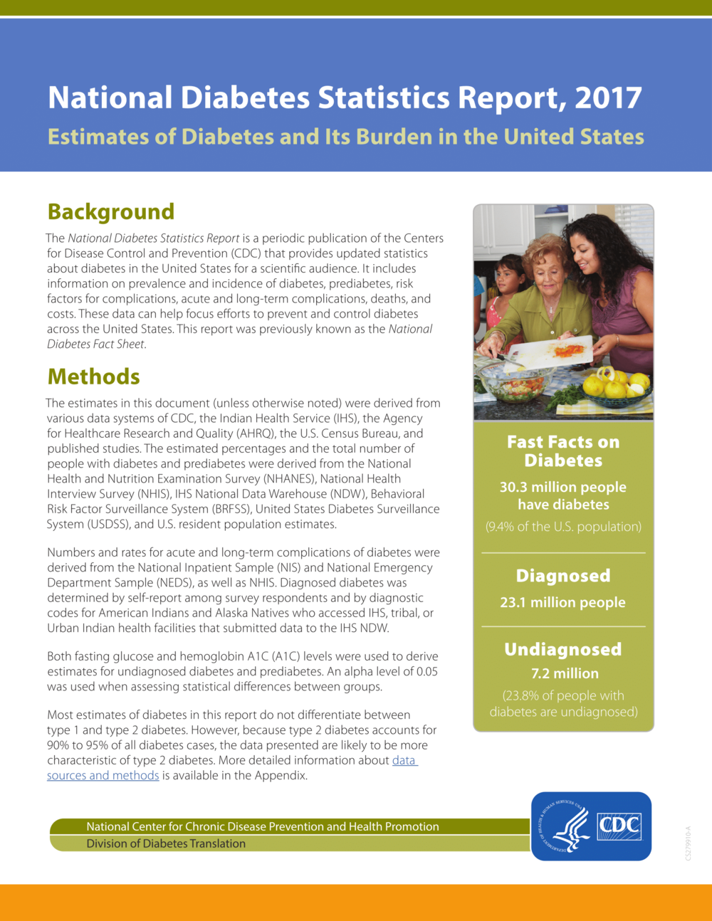 National Diabetes Statistics Report, 2017
