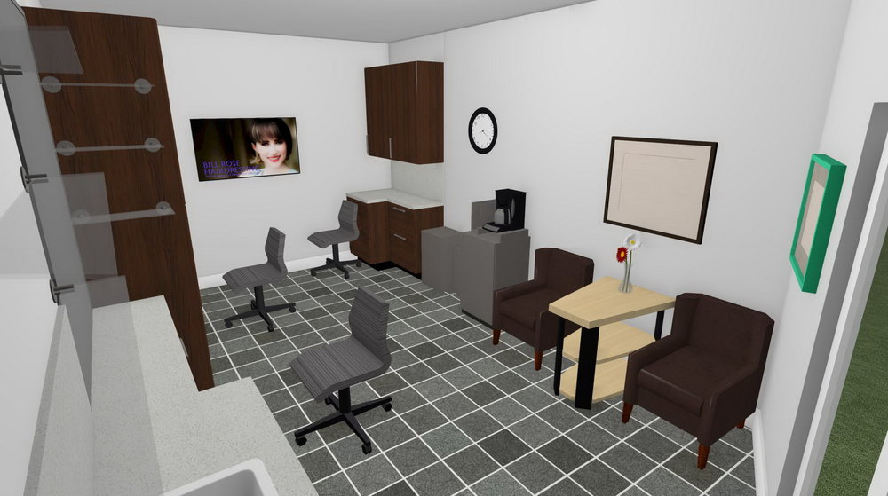 Computer generated plan for my suite ...
