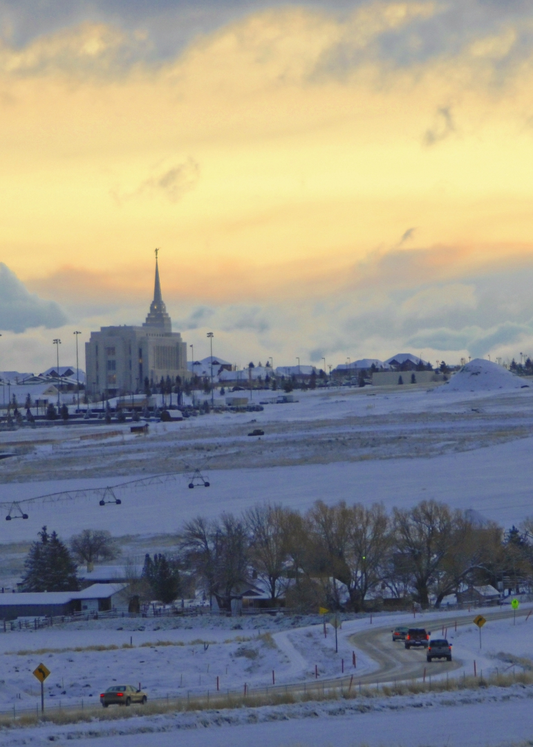 LDS Temple in Rexburg, Idaho