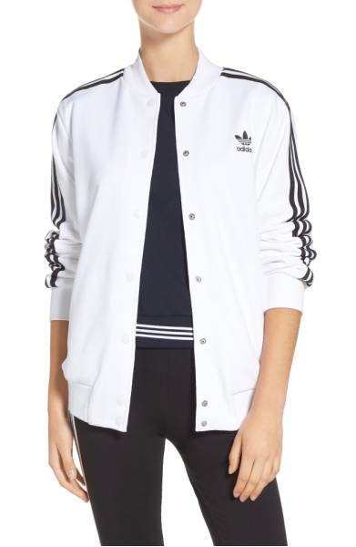 Shop  Adidas 3-stripes Bomber  @ NORDSTROM