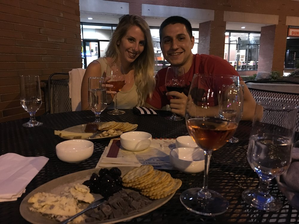 (Picture featuring my amazing boyfriend Dan) Go visit:  MJS Wine Bar