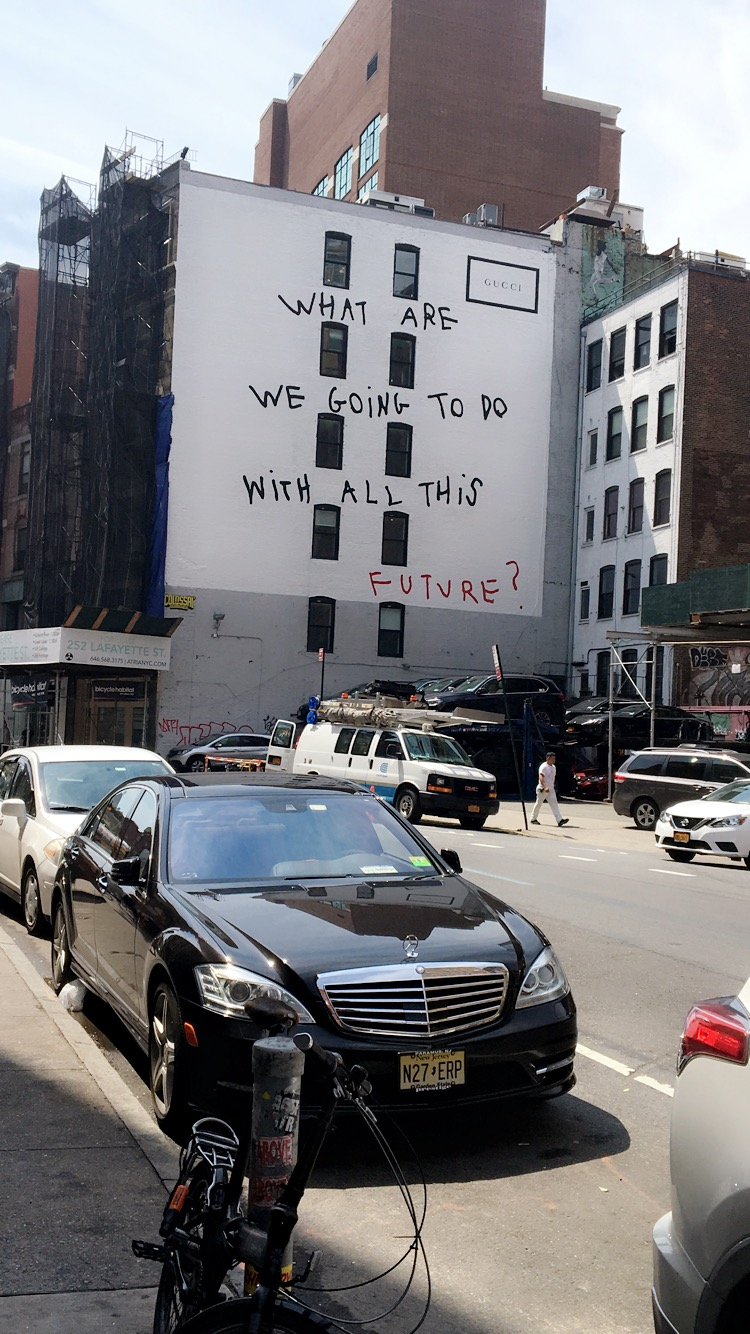 Amazing Gucci building collab with artist Coco Capitan. Check out this  New York Times  article to get the scoop on the collaboration.