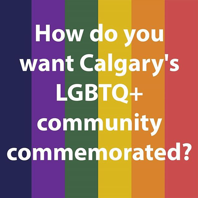 Over the past four weeks we've been receiving stories RE LGBTQ2S+ lives in Calgary to inform our future commemoration. But this week, tell us what your ideas are for commemoration/memorial/monument/space. What should the commemoration look, feel, evoke, be? It's the BIG question. Tell us your ideas! . Let us know in comments or web link in bio . #yyclegacy #yyc #yycpride2017 #yycpride #calgarypride #calgarypride2017 #commemoration #community #lgbtq #lgbtq2s #twospirit #twospirited #monument #rainbowtales #inspire #diversity #diversitymatters #inclusive