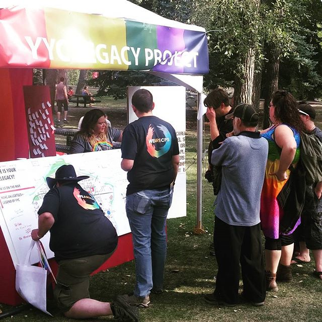 Thanks to everyone who came out and told us their stories and marked their #yyclegacy on our map during #calgarypride in the park. What ideas & lived experiences - we're richer from hearing them all. Thank you! . .  We'll be sharing out your stories and places so stay tuned..... . . .  #yyclegacy #calgarypride #calgarypride2017 #yycpride #gaycalgary #lgbtq2s #LGBTQ #lgbtqrights #canada150 #calgaryqueerhistory #calgaryoutlink #cityofcalgary