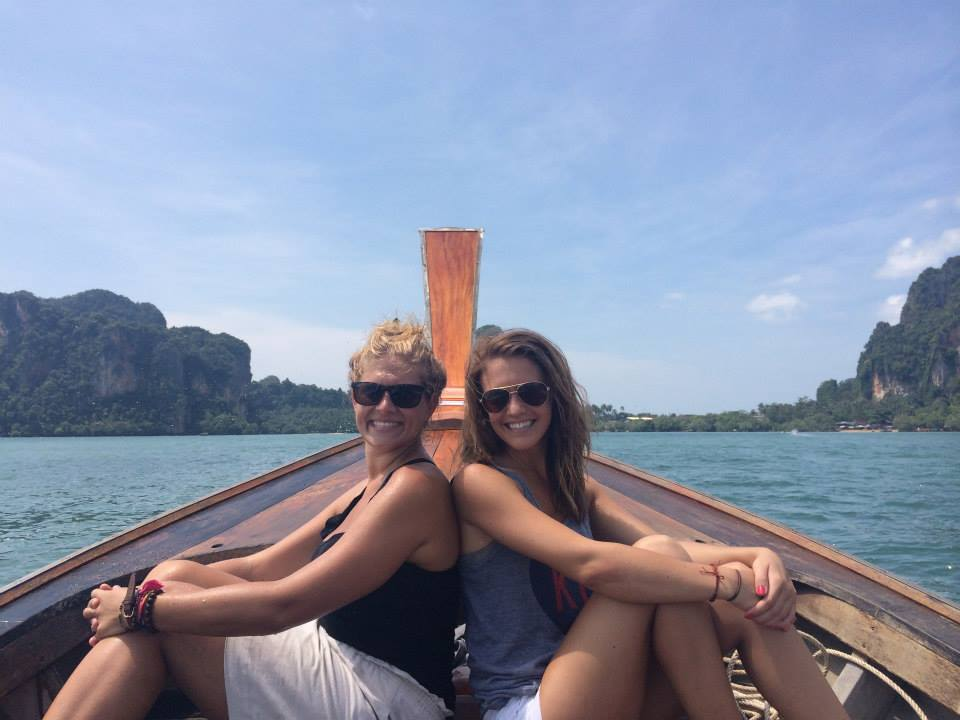 On a longboat near Koh Phi Phi (The Beach) Thailand.