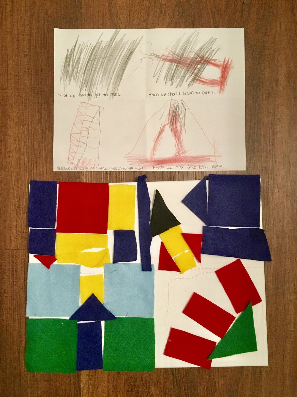 Becoming an Astronaut Storyboard and Quilt