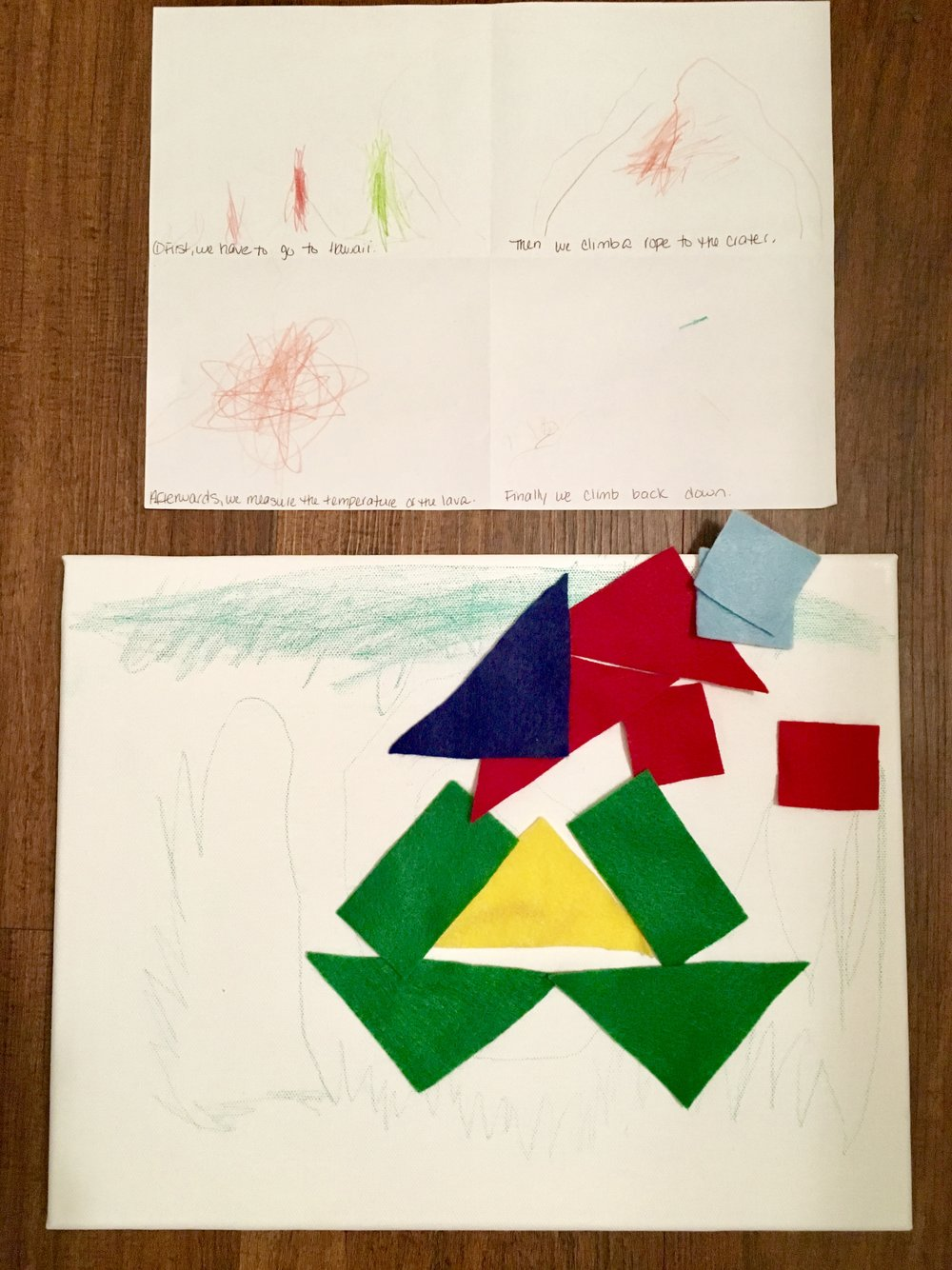 Becoming a Volcanologist Storyboard and Quilt