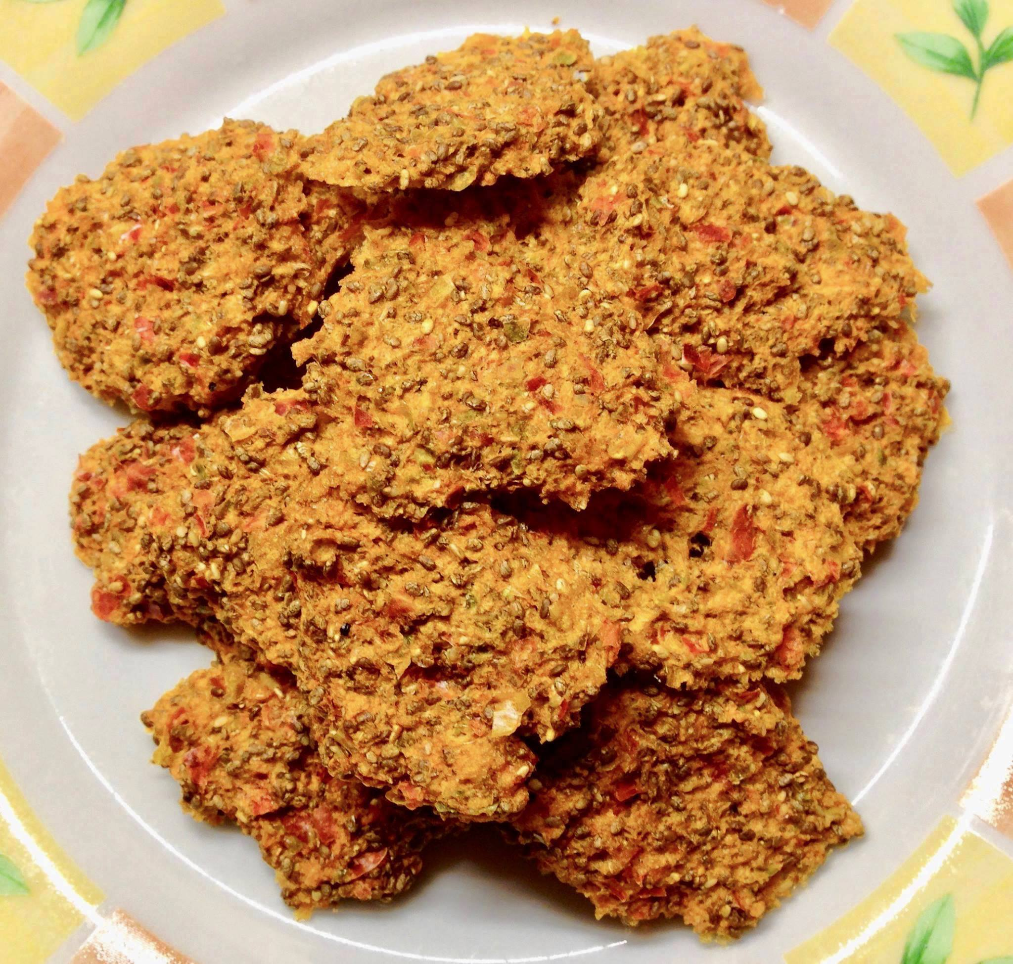 Bild 3: Paprika-Chia-Gemüsecracker