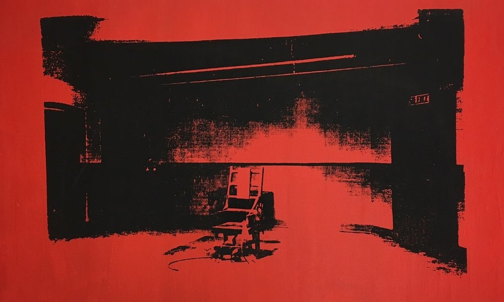 Little Electric Chair by Andy Warhol. The artwork entered Cooper's touring equipment collection, and disappeared. Photograph: Courtesy of Alice Cooper