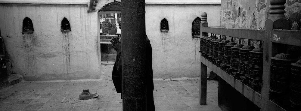 Monk, In Prayer, Kathmandu.