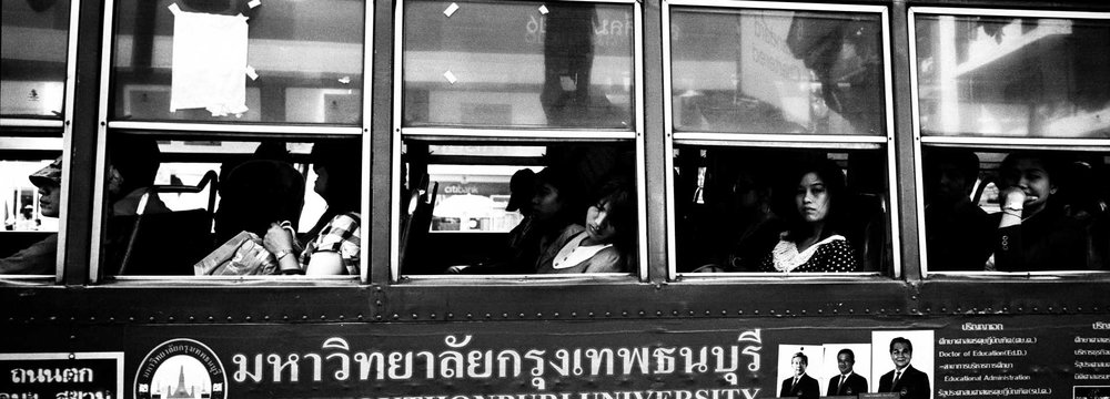 """On The Bus""  Bangkok, Thailand."