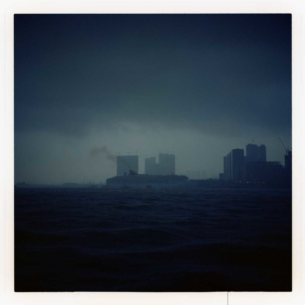 """Stormy Weather"" Hong Kong Harbor. 2015"