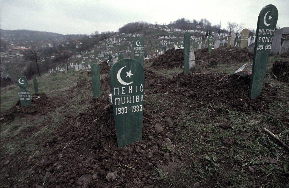 Infant war deaths. 1993 - 1993. Tusla cemetery, Bosnia, 1995