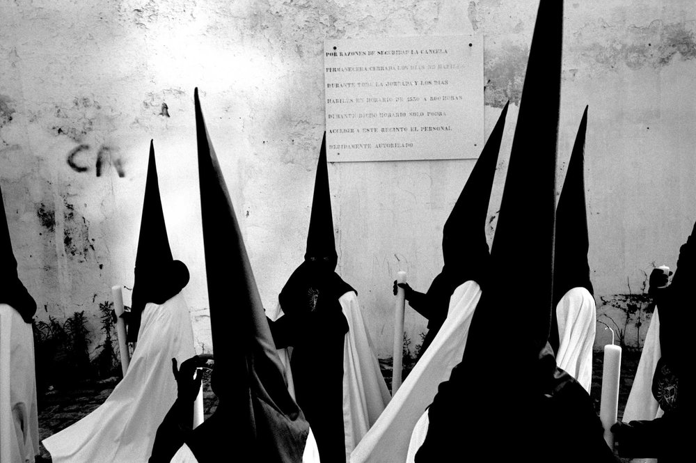 Nazarenos' Easter procession, Spain. 1995